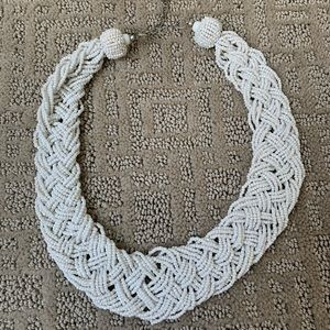 White Breaded Bead Necklace